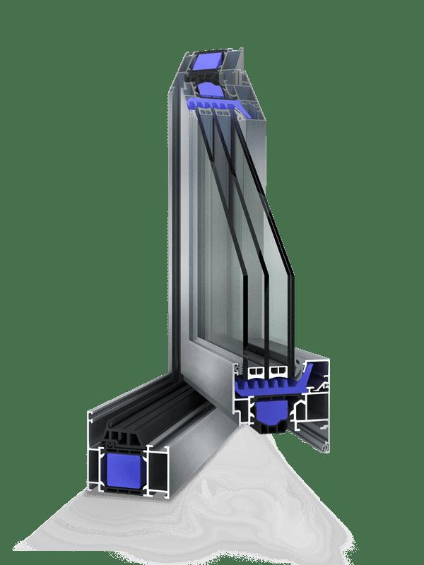 serramento alluminio schuco aws 75 hi arcade spa. Black Bedroom Furniture Sets. Home Design Ideas